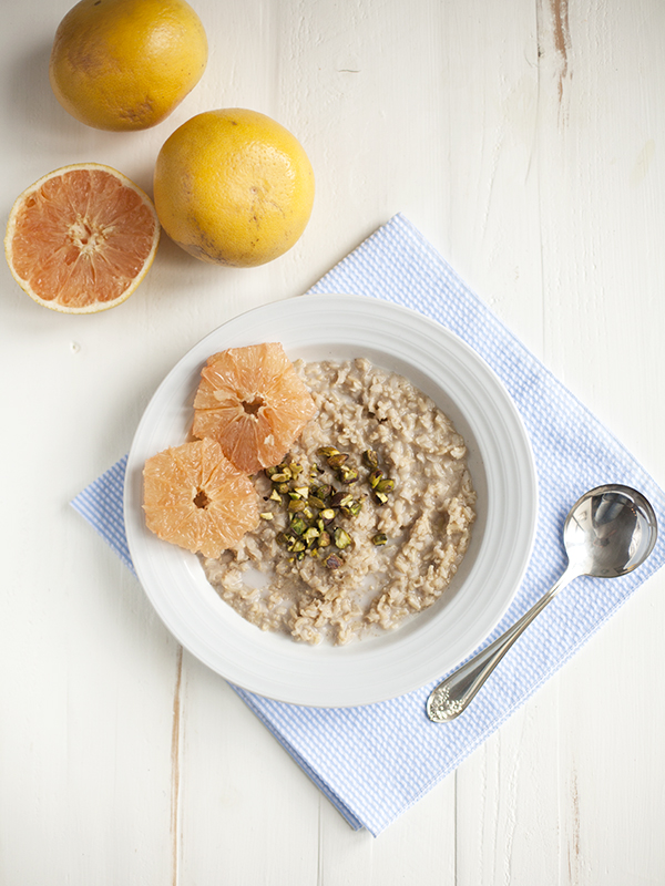 Basmati Rice, Cardamom, and Pistachio Porridge with Grapefruit // Choosing Raw