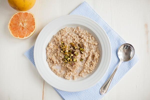 Basmati Rice, Cardamom, and Pistachio Porridge with Grapefruit // Choosing Raw