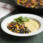 Black Bean Skillet Scramble with Cheesy Polenta