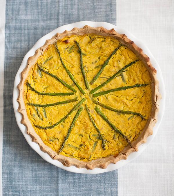 Vegan, Gluten Free Leek and Asparagus Quiche – The Full Helping