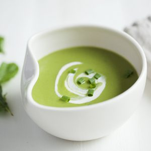 Minted Pea Soup with Cashew Cream