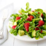 Strawberry Mache Salad from Kathy Patalsky's Health Happy Vegan Kitchen