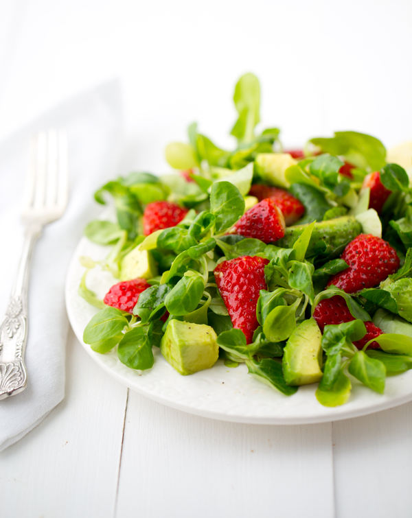 Strawberry Mache Salad