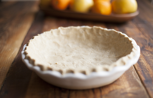 Oat and rice flour crust