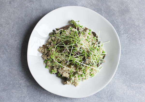 Purple Asparagus and Quinoa Salad with Peas and Pea Shoots | The Full ...