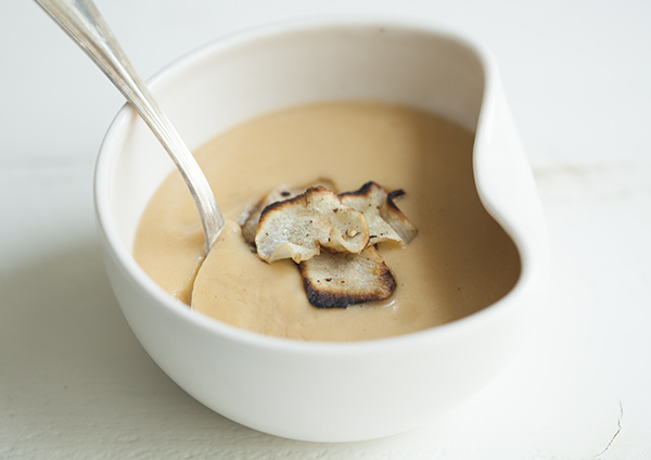 Smoky Sunchoke and Cauliflower Soup