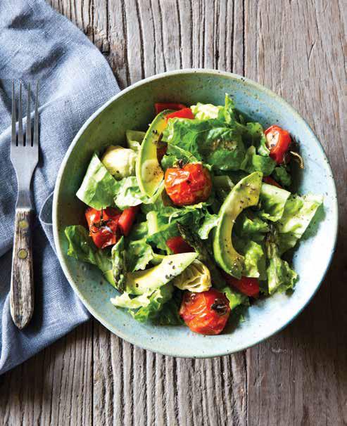 roasted vegetable salad with shallot vinaigrette