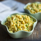 Easiest Vegan, Gluten Free Mac n' Cheese + Peas