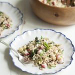 Sorghum and roasted summer vegetable salad with tarragon and basil