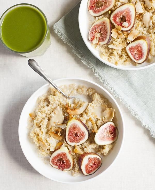 Maple Vanilla Quinoa Porridge with Fresh Figs