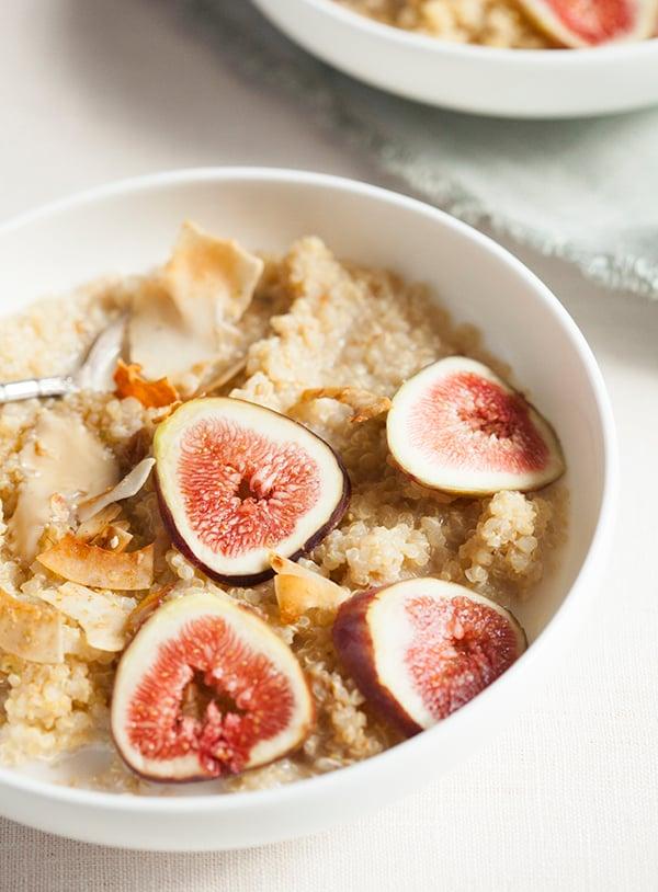 Maple Vanilla Quinoa Porridge with Fresh Figs | The Full ...