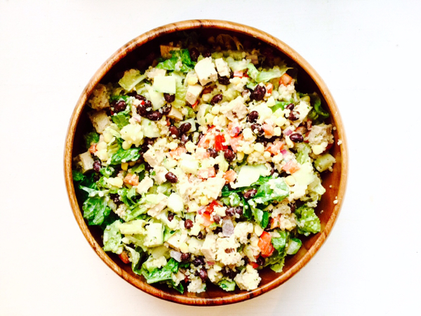 Quinoa Corn Salad Beyond Meat