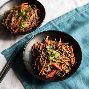 Easy Tahini and Soba Noodle Salad