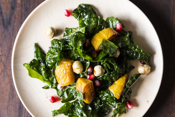 Food52 Vegan_Kale Salad with Kabocha Squash
