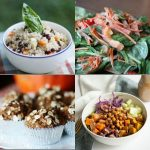 Menu Plan Monday: Quinoa and Black Bean Salad with Quick Cumin Dressing, Sweet Dijon Baked Tempeh, Polenta Casserole, and More