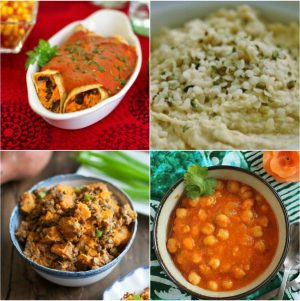 Menu Plan Monday: Enchiladas, Chana Masala, Hemp Hummus & More