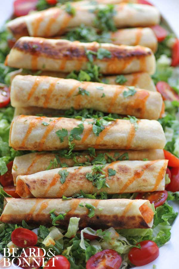 wait to try Meg's lightly grilled sweet potato and lime taquitos ...