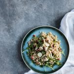 Fennel Salad with Ancient Grains and Pomegranate Seeds