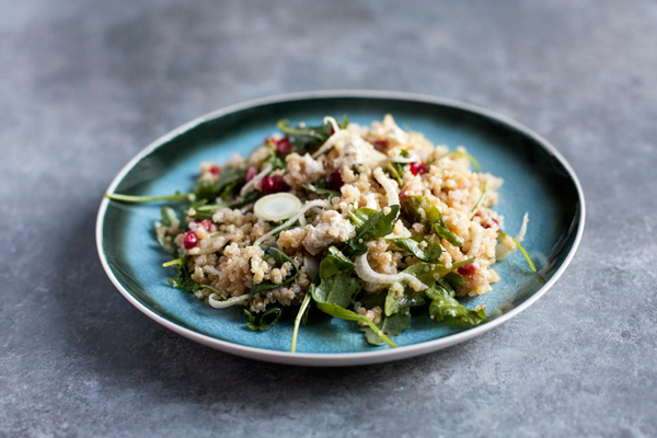 Fennel Salad with Ancient Grains and Pomegranate