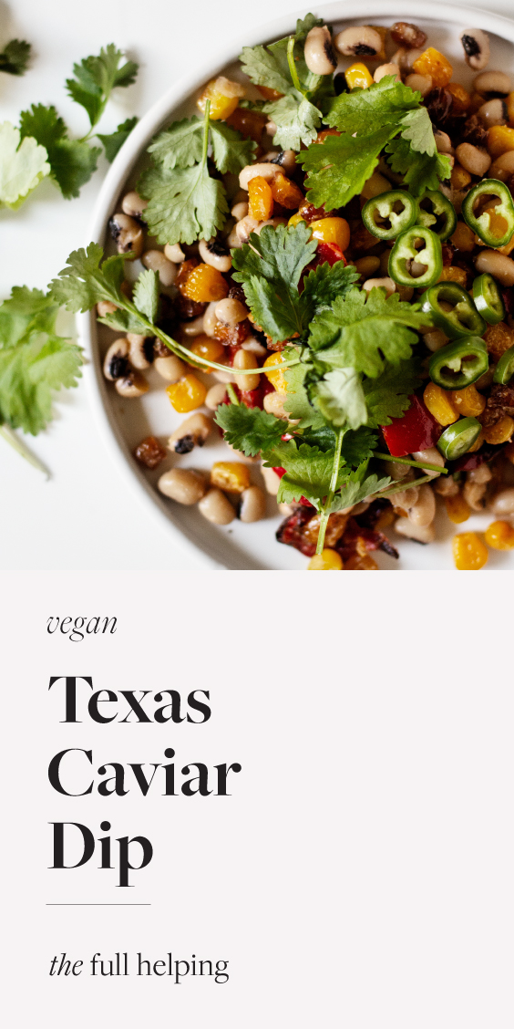 Texas caviar is a nutritious, hearty dip or appetizer that also happens to be #vegan and #glutenfree! Pair it with your favorite corn chips for a filling snack. A total crowd pleaser and easy to make in advance for all of your gatherings.