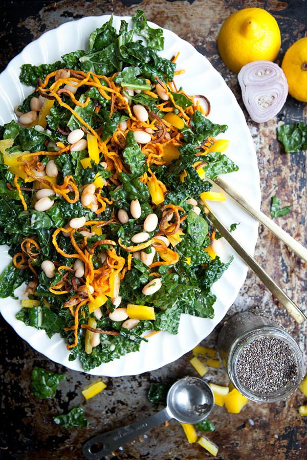 kale-salad-cannellini-lemon-chia-dressing-gluten-free-vegan-ourfourforks