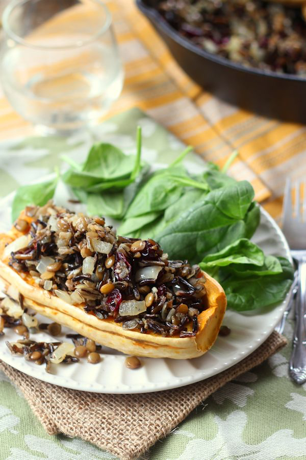 ... stuffed delicata squash from Alissa of Coinosseurus Veg , via Oh My
