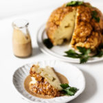 Whole Roasted Lemon Tahini Cauliflower