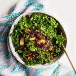 Festive Kale Salad with Cranberries, Lentils, and Coconut Bacon