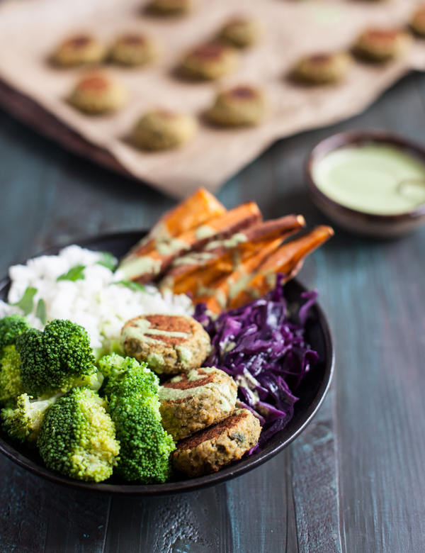 Vegan falafel with a twist: herbs, pistachio nuts, and spinach ...