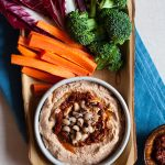 Spicy Harissa Black Eyed Pea Hummus