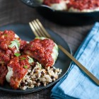 Comforting, hearty #vegan stuffed cabbage rolls with a savory rice, lentil, and currant filling | The Full Helping