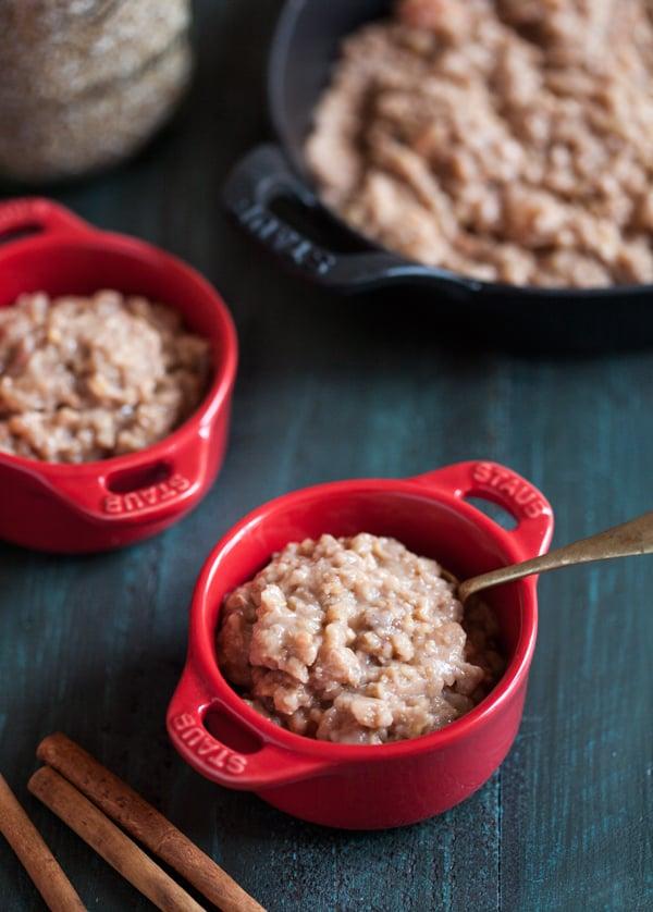 Vegan Slow Cooker Apple Pie Steel Cut Oats   The Full Helping