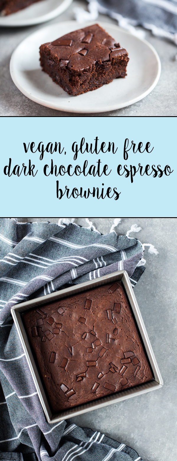 Vegan, gluten free dark chocolate espresso brownies: decadent and ...