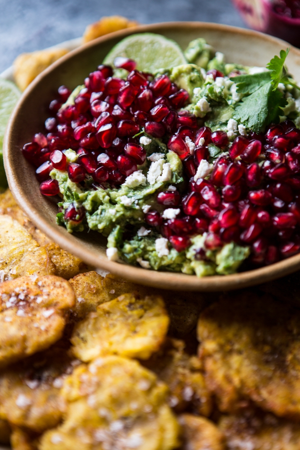 Pomegranate-Guacamole-with-Fried-Plantain-Chips-7