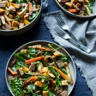 Winter Roasted Root Vegetable Panzanella with Creamy Shallot Dressing | The Full Helping