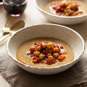 Creamy Amaranth Polenta with Easy Chickpea Marinara