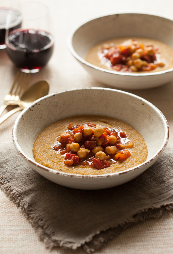 Creamy Amaranth Polenta and Chickpea Marinara | The Full Helping