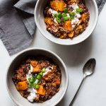 Slow Cooker Black Bean, Butternut Squash & Quinoa Chili