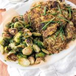 Jess Nadel's Brussels Sprout Latkes with Tofu Sour Cream