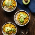 Split pea coconut breakfast porridge | The Full Helping