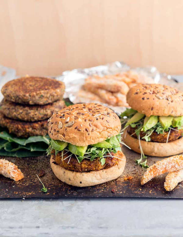 Sundried Tomato and Coconut Quinoa Burgers. Credit Jackie Sobon