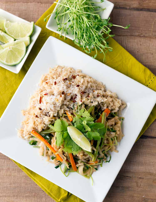 Sunflower Seed and Sprout Pad Thai. Credit Jackie Sobon