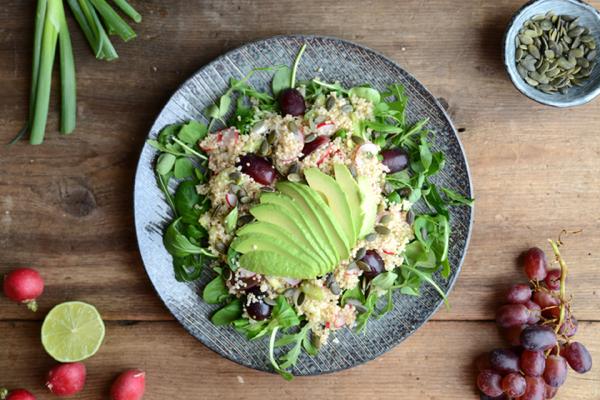 Lime Avocado & Grape Vegan Quinoa Salad 019