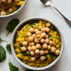 Savory Turmeric Chickpea Oats | The Full Helping