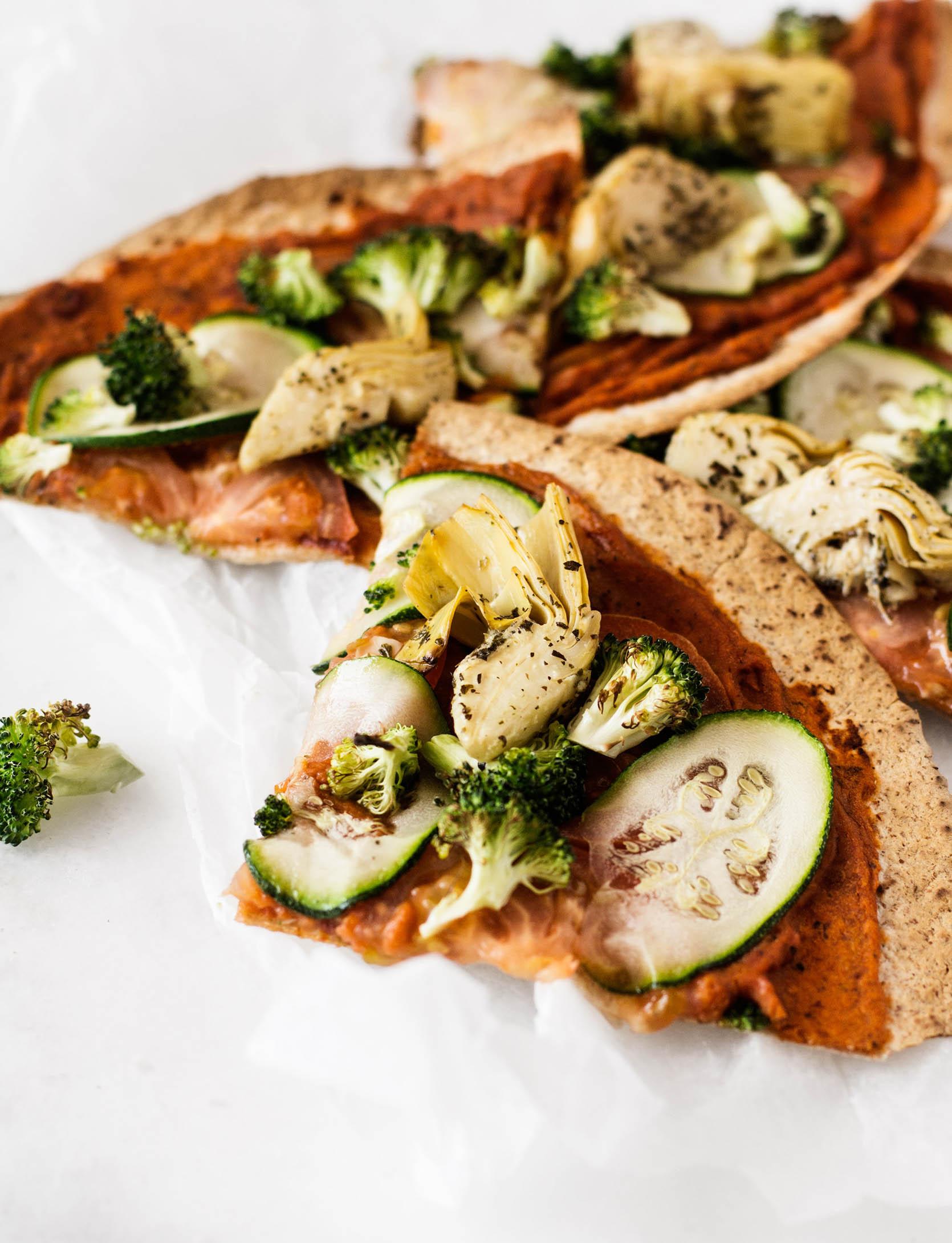 Easy Vegan Tortilla Pizza   The Full Helping