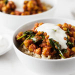 Easy Weeknight Curried Chickpeas and Spinach | The Full Helping