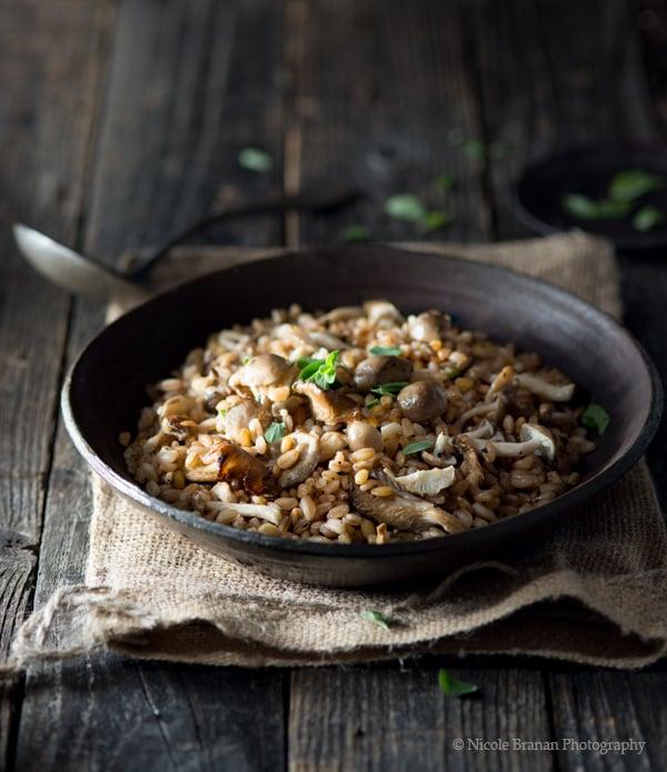 Farro-with-Roasted-Mushrooms-and-Marjoram-Recipe