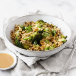 Quick & Easy Brown Rice Lentil Stir Fry with Peanut Butter Sauce