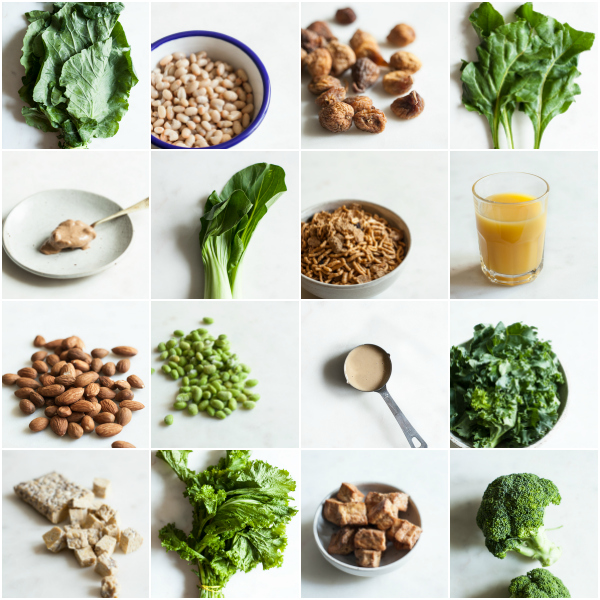 picture about Low Potassium Food List Printable named 15 Calcium Prosperous Vegan Food items Combos