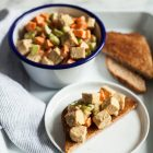 Fifteen Minute Tempeh Lunch Salad | The Full Helping